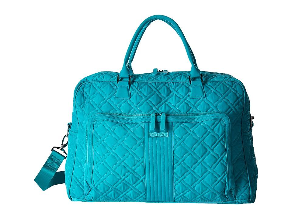 Vera Bradley Luggage - Weekender (Turquoise Sea) Duffel Bags