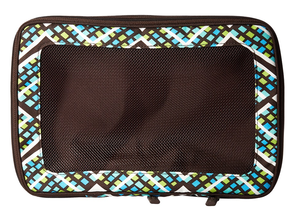 Vera Bradley Luggage - Medium Expandable Packing Cube (Rain Forest) Luggage