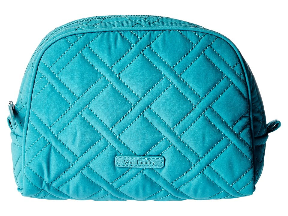 Vera Bradley Luggage - Medium Zip Cosmetic (Turquoise Sea) Cosmetic Case
