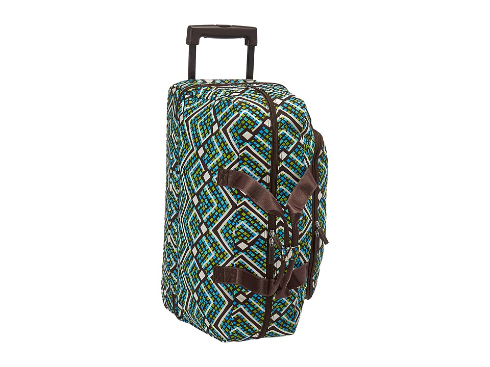 Vera Bradley Luggage - Lighten Up Wheeled Carry On (Rain Forest) Carry on Luggage
