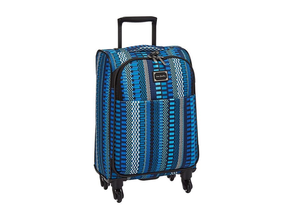 Vera Bradley Luggage - 22 Spinner (Cha-Cha Blue) Carry on Luggage