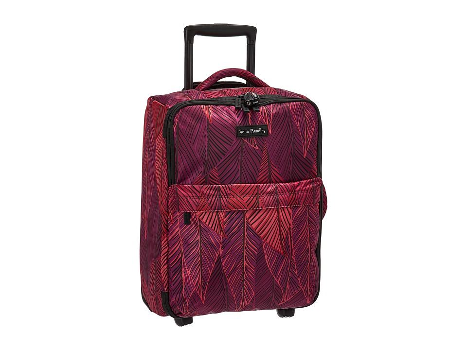 Vera Bradley Luggage - Small Foldable Roller (Banana Leaves Fuchsia) Carry on Luggage