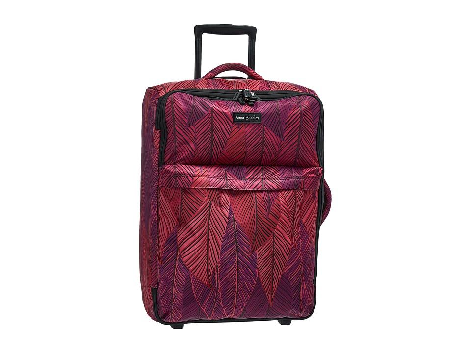 Vera Bradley Luggage - Large Foldable Roller (Banana Leaves Fuchsia) Suiter Luggage