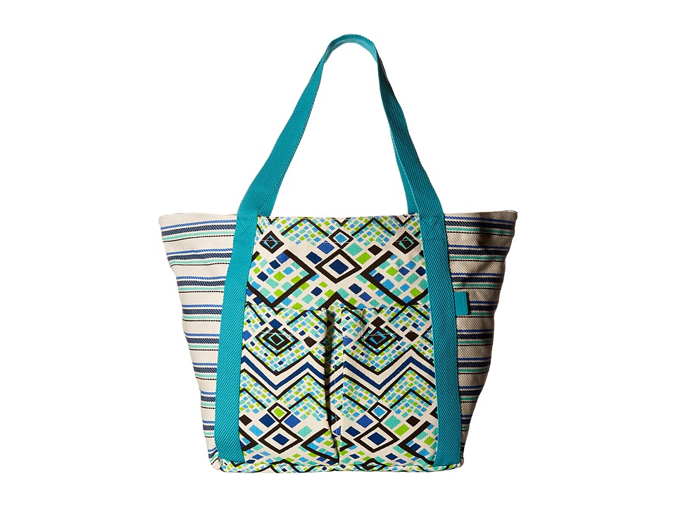 Vera Bradley - Canvas Beach Tote (Rain Forest) Tote Handbags