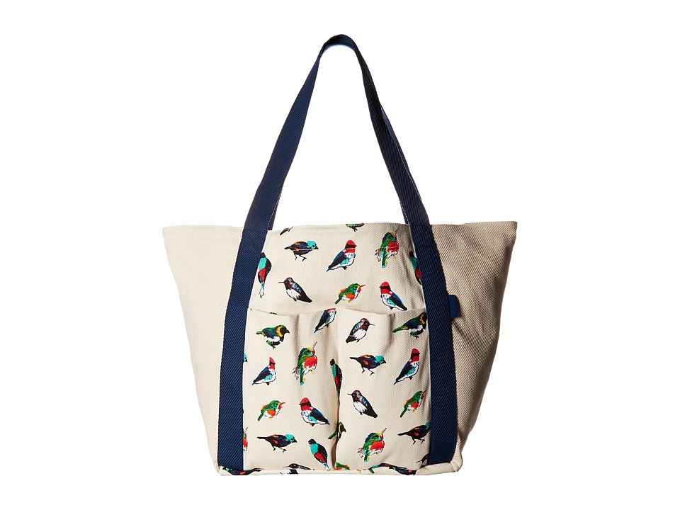 Vera Bradley - Canvas Beach Tote (Mini Tody Birds) Tote Handbags