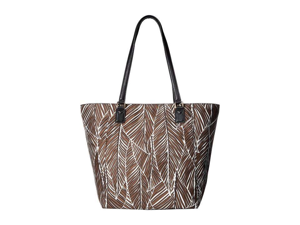 Vera Bradley - Ella Tote (Banana Leaves Brown) Tote Handbags