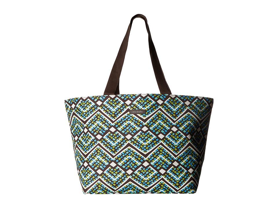 Vera Bradley - Drawstring Family Tote (Rain Forest) Tote Handbags