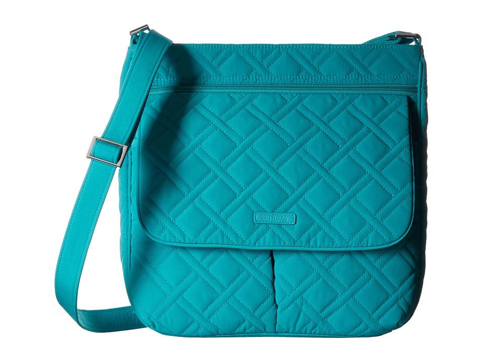 Vera Bradley - Double Zip Mailbag (Turquoise Sea) Cross Body Handbags
