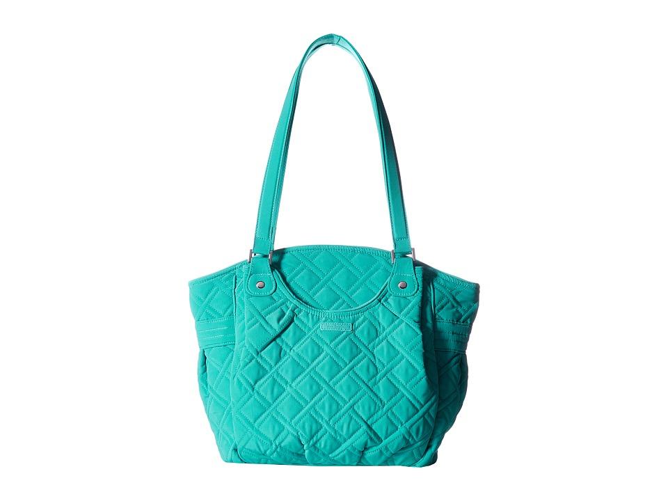 Vera Bradley - Glenna (Turquoise Sea) Tote Handbags