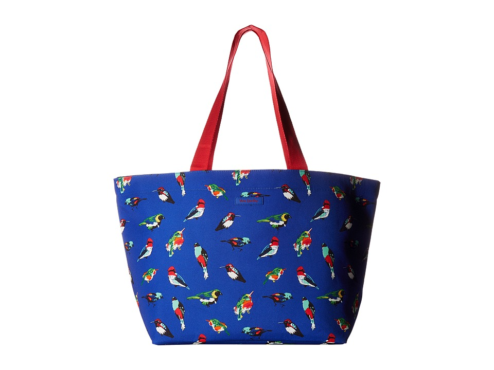 Vera Bradley - Drawstring Family Tote (Mini Tody Birds Blue) Tote Handbags