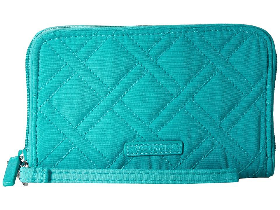 Vera Bradley - RFID Grab Go Wristlet (Turquoise Sea) Wristlet Handbags