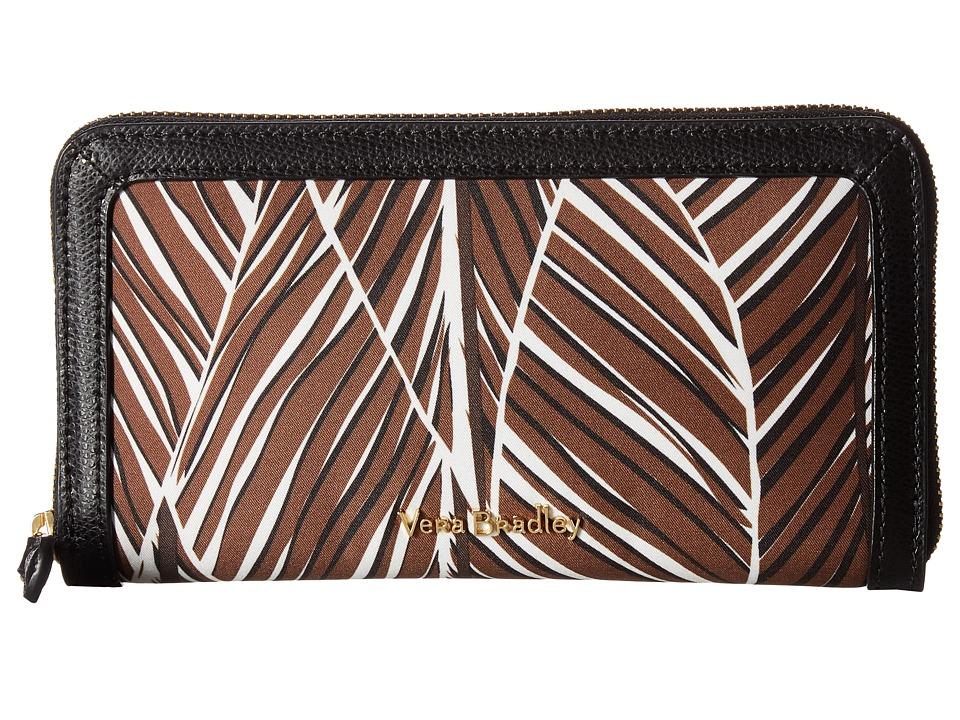Vera Bradley - RFID Georgia Wallet (Banana Leaves Brown) Wallet Handbags