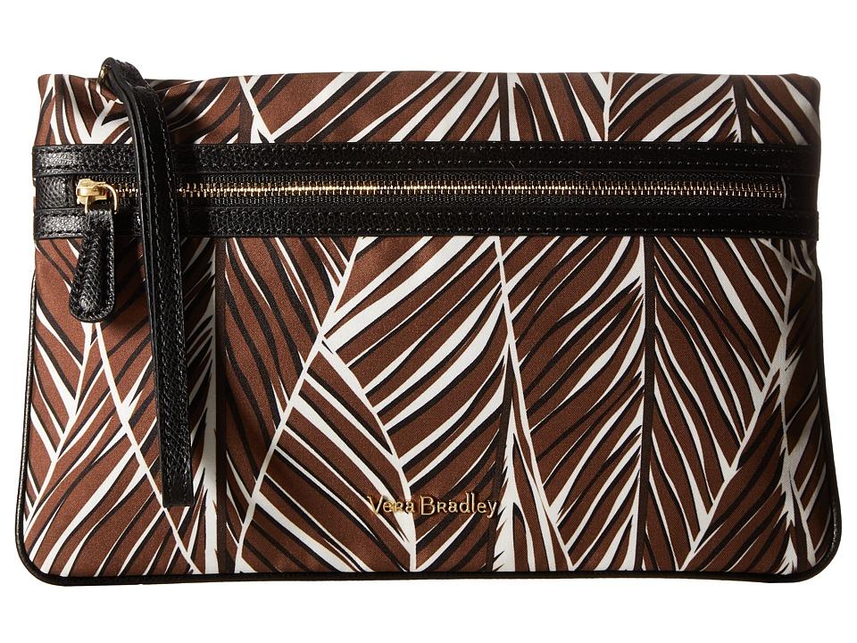 Vera Bradley - Rfid Mia Wristlet (Banana Leaves Brown) Wristlet Handbags