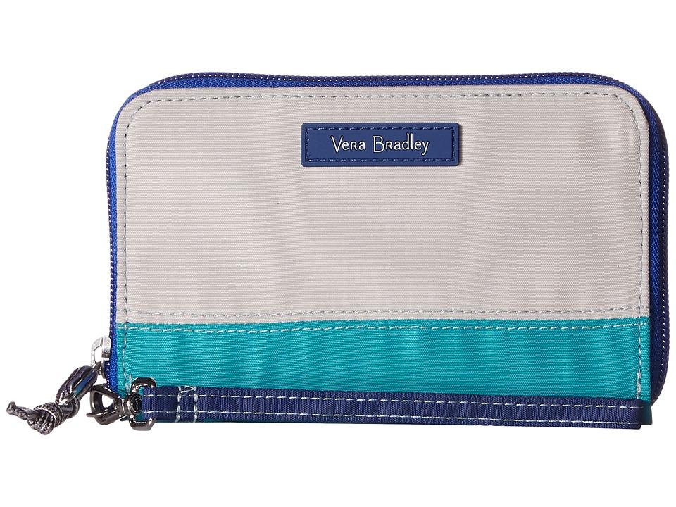 Vera Bradley - RFID Grab Go Wristlet (Cool Lagoon) Wristlet Handbags