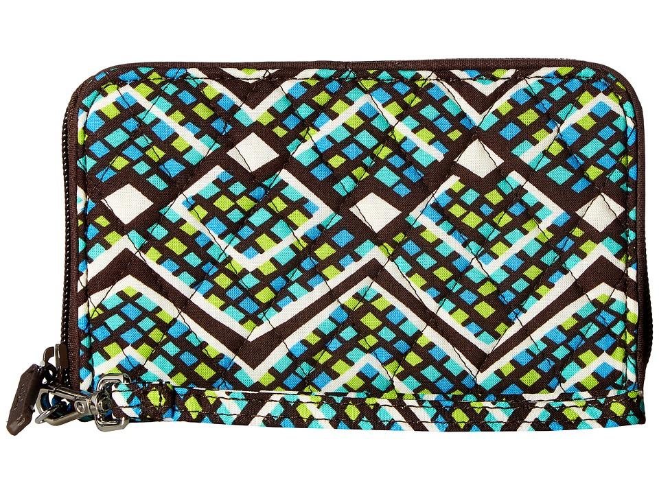 Vera Bradley - RFID Grab Go Wristlet (Rain Forest) Wristlet Handbags
