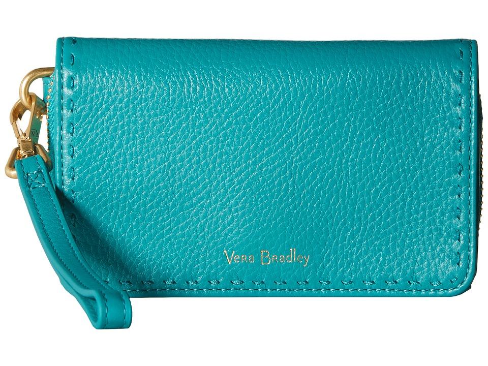 Vera Bradley - Rfid Mallory Smartphone Wristlet (Turquoise Sea) Wristlet Handbags