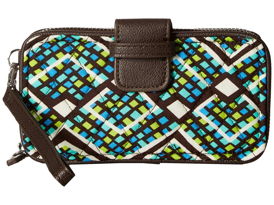 Vera Bradley - RFID Smartphone Wristlet (Rain Forest) Wristlet Handbags