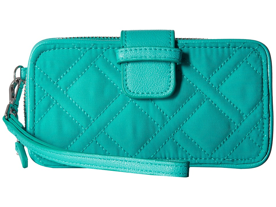 Vera Bradley - RFID Smartphone Wristlet (Turquoise Sea) Wristlet Handbags