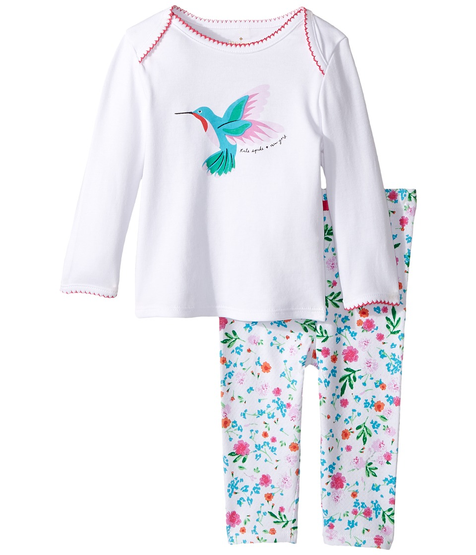 Kate Spade New York Kids - Hummingbird PJ Set (Infant) (Fresh White) Girl's Pajama Sets
