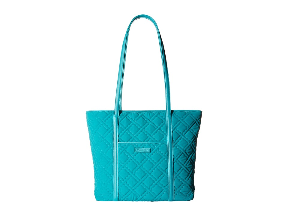 Vera Bradley - Small Trimmed Vera (Turquoise Sea) Tote Handbags