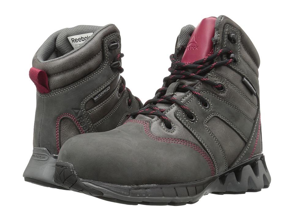 Reebok Work - Zigkick Work (Grey/Fuchsia) Women's Work Boots