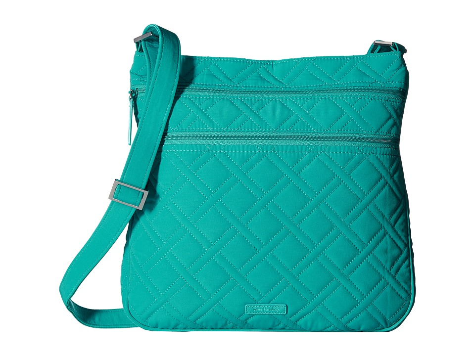 Vera Bradley - Triple Zip Hipster (Turquoise Sea) Cross Body Handbags