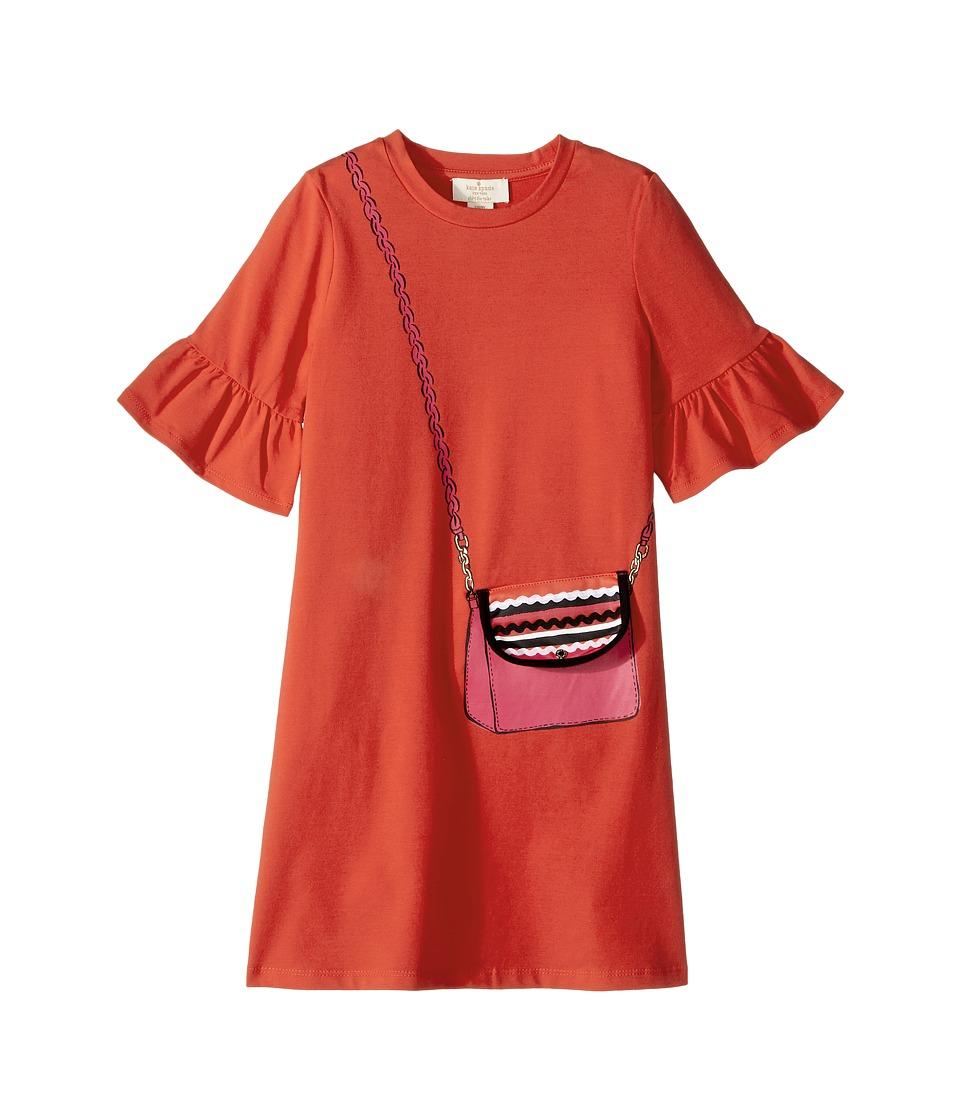 Kate Spade New York Kids - Trompe L'Oeil Bag Dress (Little Kids/Big Kids) (Paprika) Girl's Dress