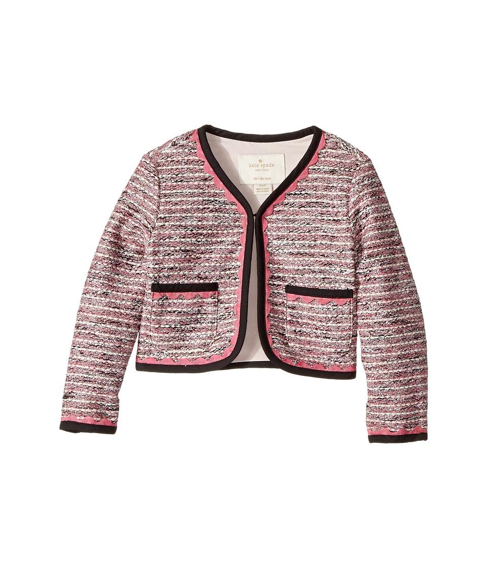 Kate Spade New York Kids - Knit Tweed Jacket (Toddler/Little Kids) (Multi) Girl's Coat