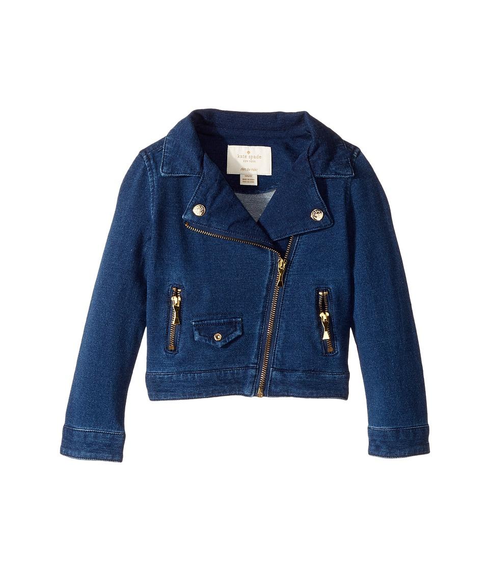 Kate Spade New York Kids - Knit Moto Jacket (Toddler/Little Kids) (Indigo) Girl's Coat