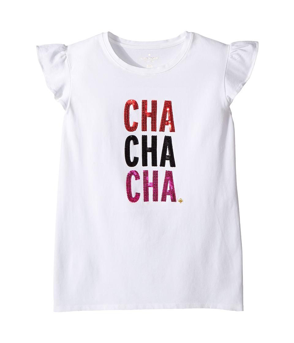 Kate Spade New York Kids - Cha Cha Cha Tee (Little Kids/Big Kids) (Fresh White) Girl's T Shirt