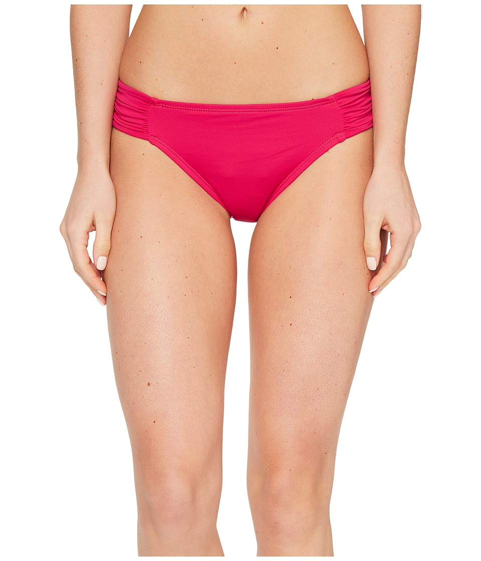 La Blanca - Island Goddess Side Shirred Hipster Bottom (Berry) Women's Swimwear