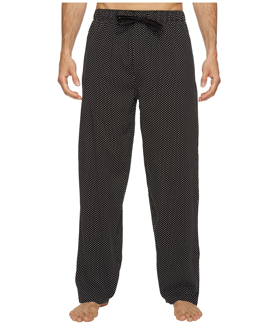 Jockey - Printed Rayon Sleep Pants (001 Black/White Dot) Men's Pajama