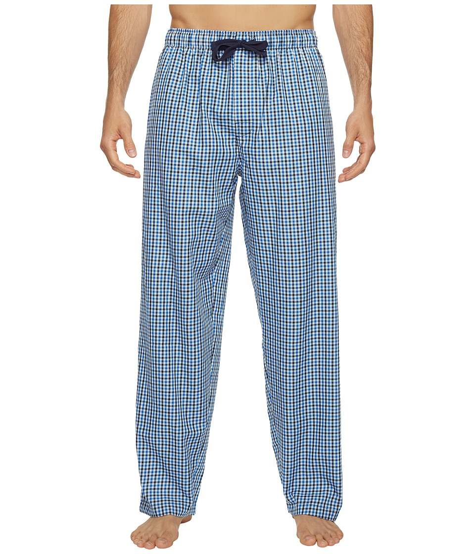 Jockey - Poly/Rayon Sleep Pants (Navy/Blue Plaid) Men's Pajama