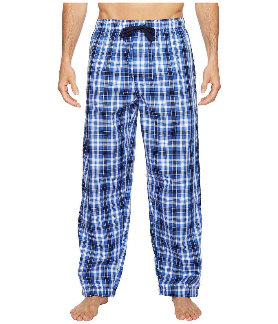Jockey - Poly/Rayon Sleep Pants (Blue/Navy Plaid) Men's Pajama