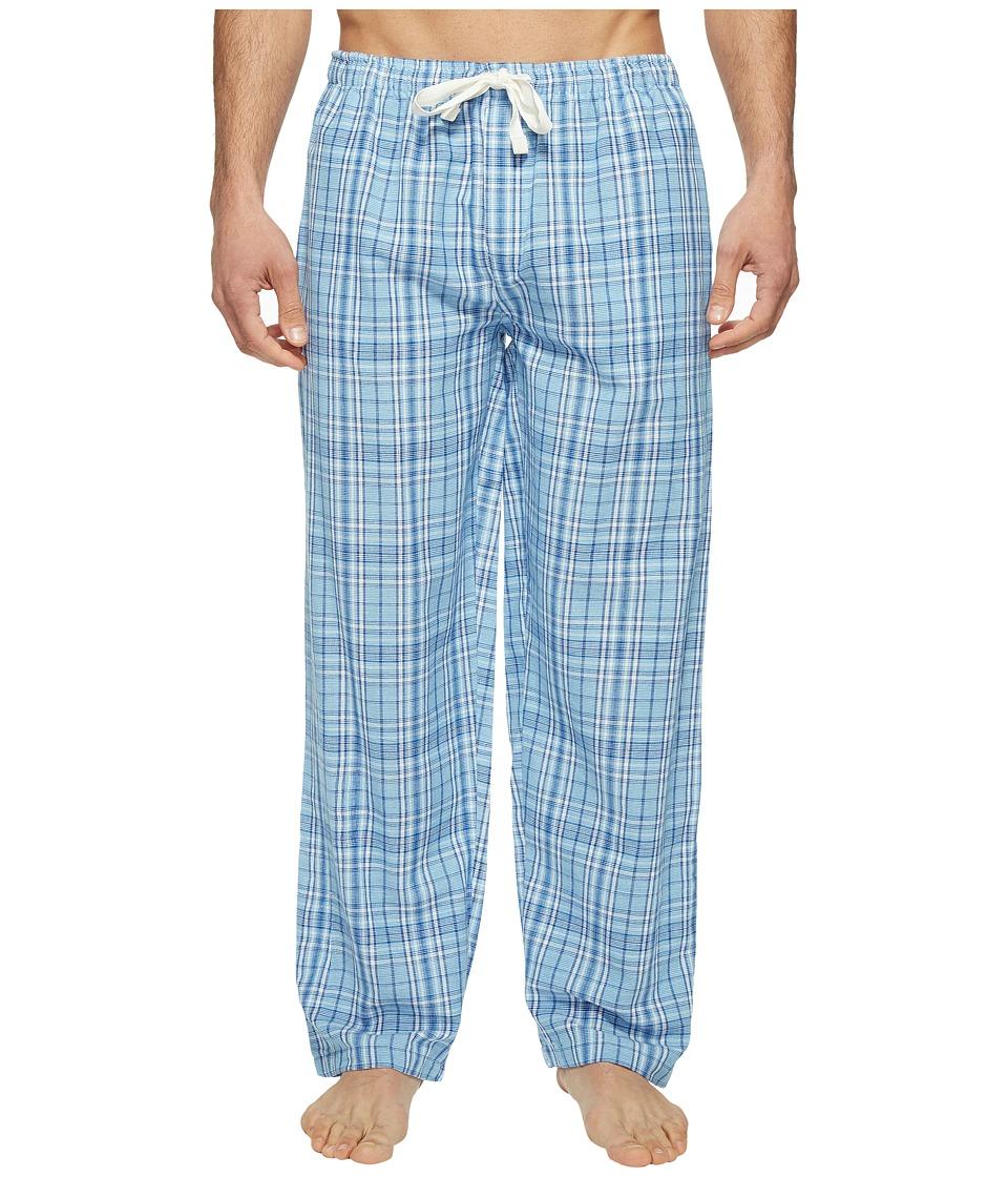 Jockey - Fancy Chambray Plaid Sleep Pants (Blue) Men's Pajama