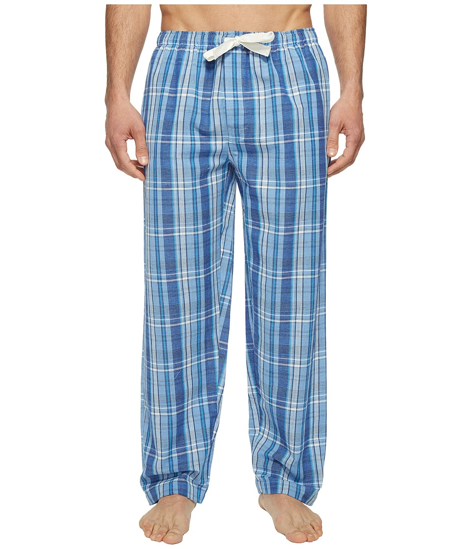 Jockey - Fancy Chambray Plaid Sleep Pants (Medium Blue) Men's Pajama