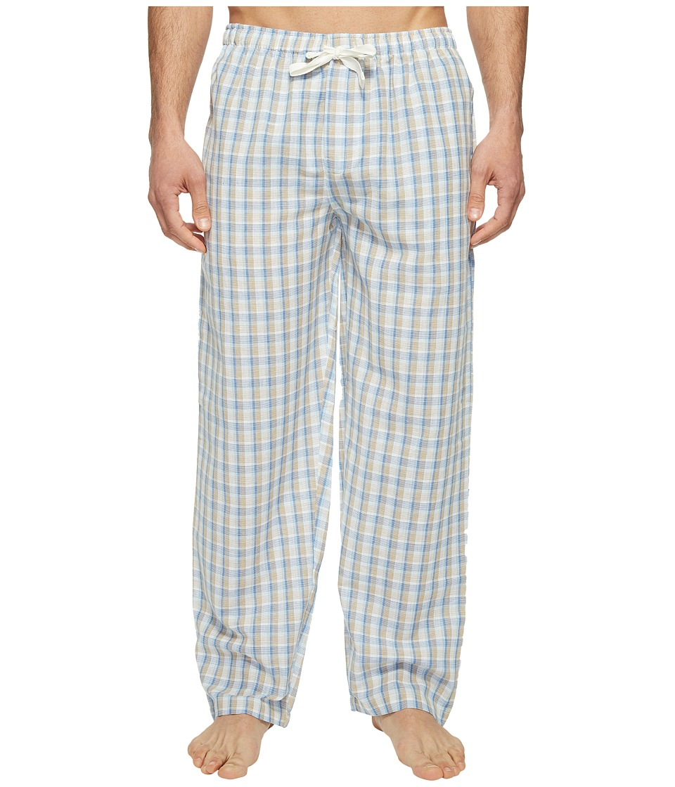 Jockey - Fancy Chambray Plaid Sleep Pants (Tan) Men's Pajama
