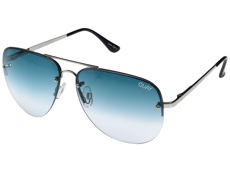 QUAY AUSTRALIA - Muse Fade (Silver/Blue Fade) Fashion Sunglasses