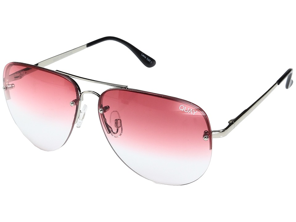 QUAY AUSTRALIA - Muse Fade (Silver/Red Fade) Fashion Sunglasses
