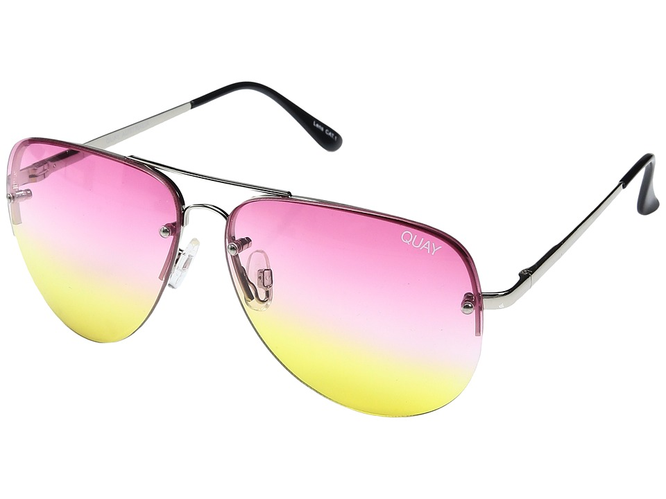 QUAY AUSTRALIA - Muse Fade (Silver/Pink Yellow Fade) Fashion Sunglasses