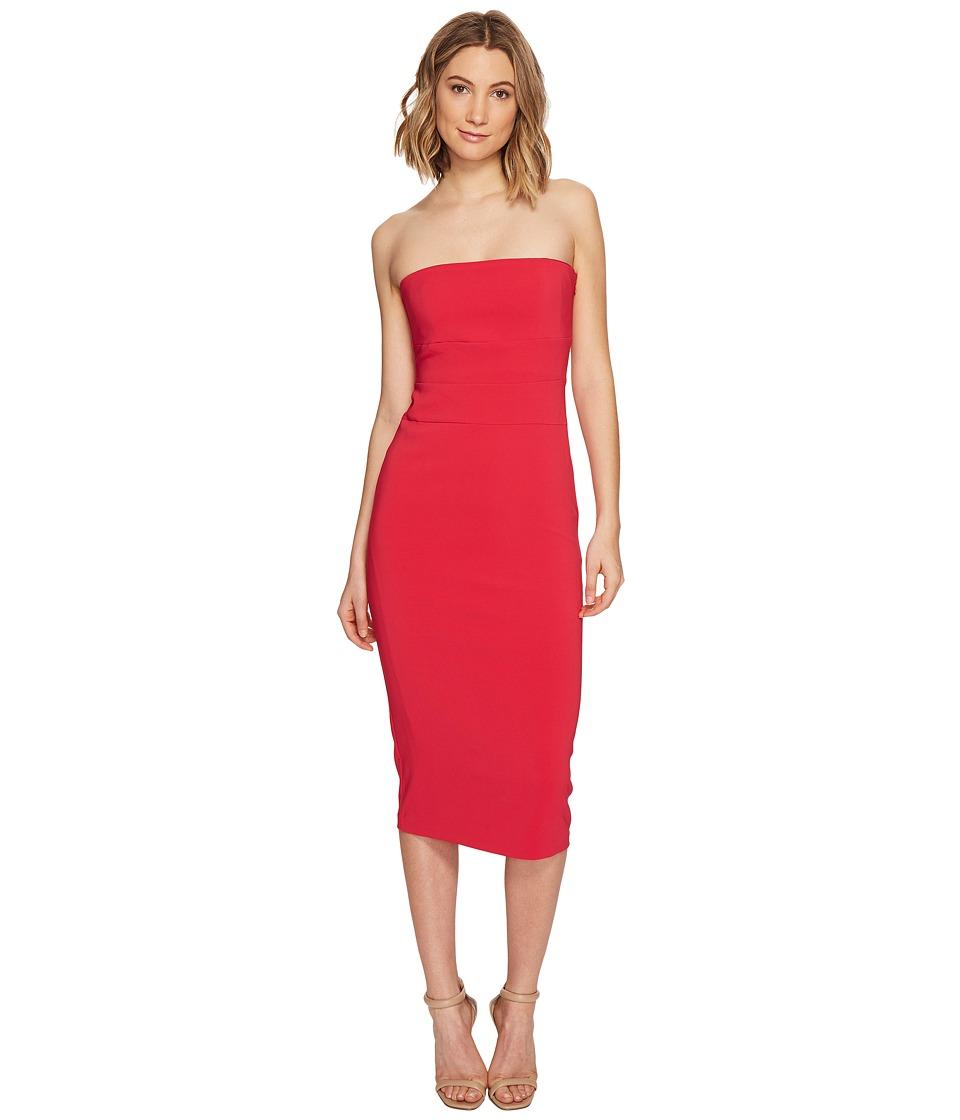 Nicole Miller Heavy Techy Crepe Strapless Tie Back Dress (Watermelon) Women