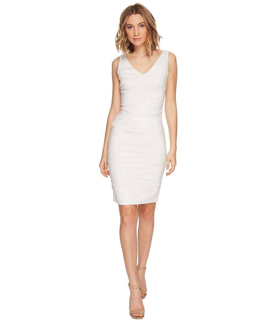 Nicole Miller - Krista Cotton Metal Dress (White) Women's Dress