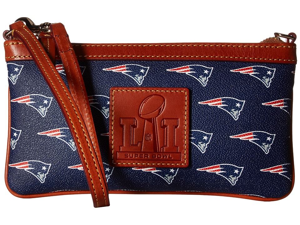 Dooney & Bourke - Super Bowl Patriots Wristlet (Navy) Wristlet Handbags