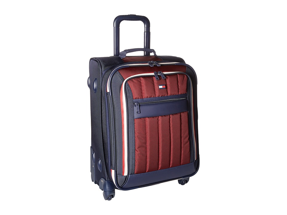 Tommy Hilfiger - Classic Sport 21 Upright Suitcase (Navy/Burgundy) Pullman Luggage
