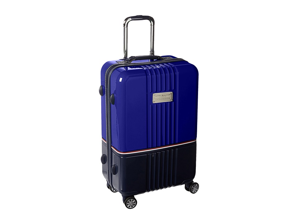 Tommy Hilfiger - Duo Chrome 24 Upright Suitcase (Royal/Navy) Carry on Luggage