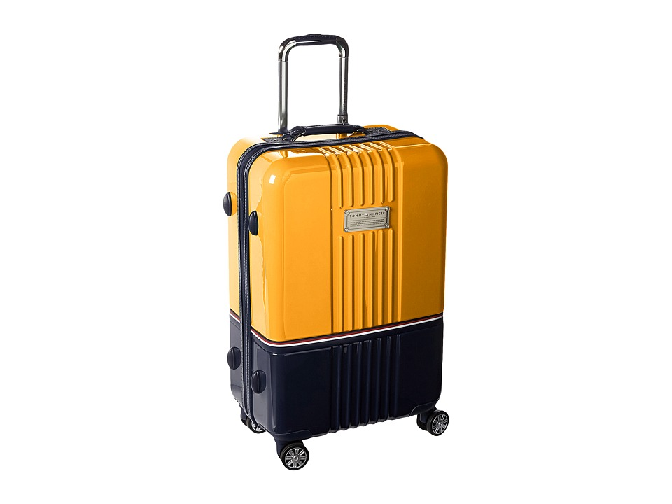 Tommy Hilfiger - Duo Chrome 24 Upright Suitcase (Yellow/Navy) Carry on Luggage