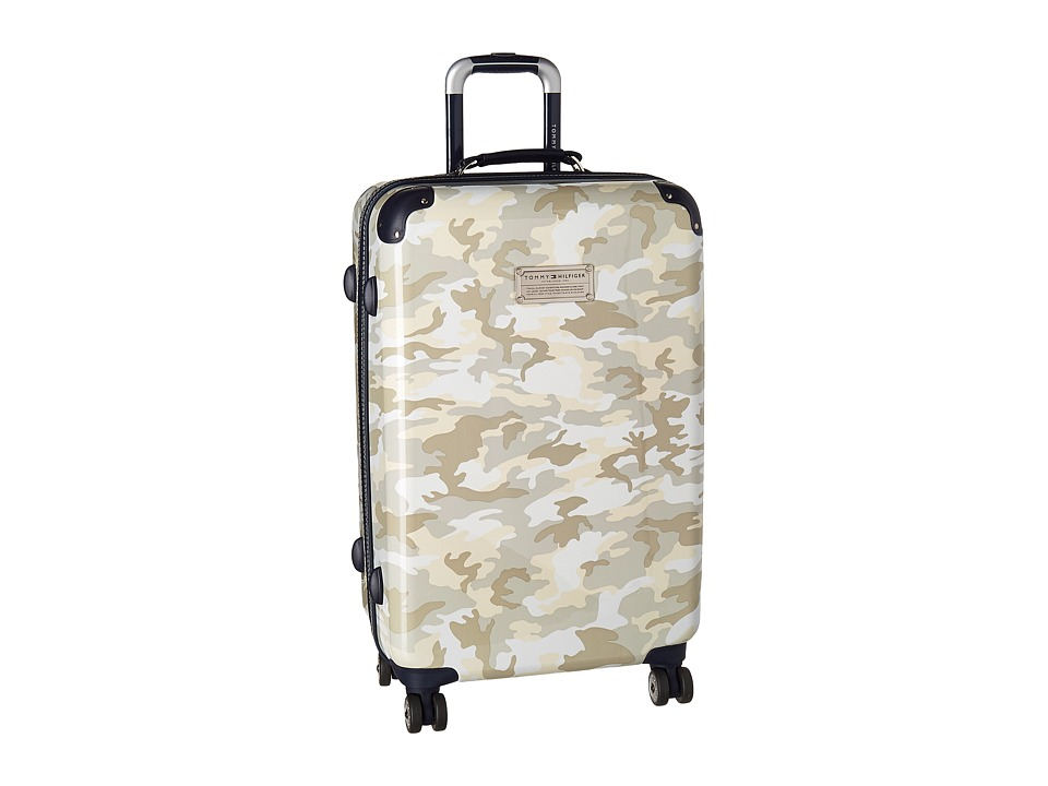 Tommy Hilfiger - East Coast Camo 24 Upright Suitcase (White) Luggage