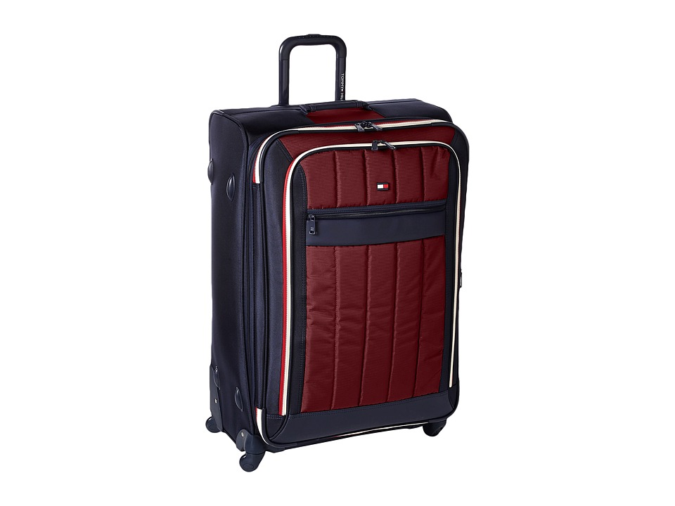 Tommy Hilfiger - Classic Sport 28 Upright Suitcase (Navy/Burgundy) Pullman Luggage
