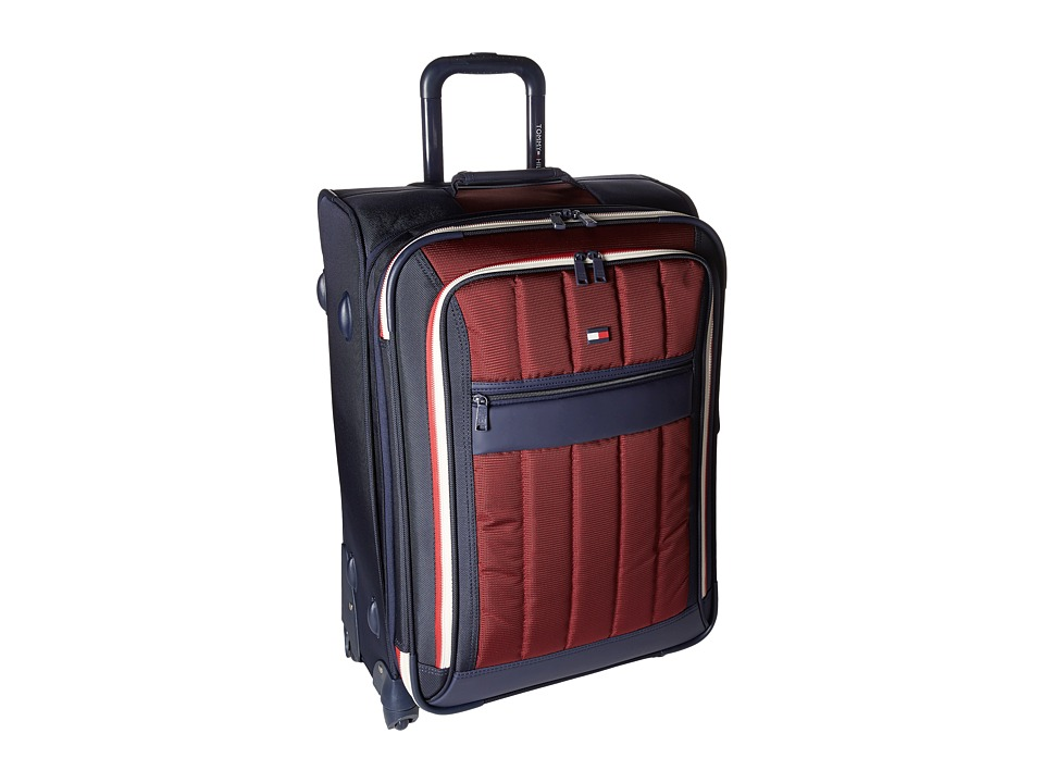 Tommy Hilfiger - Classic Sport 25 Upright Suitcase (Navy/Burgundy) Pullman Luggage