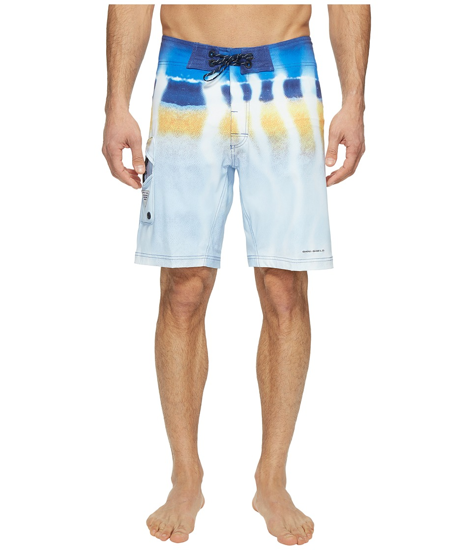Columbia - PFG Offshore II 9 inch Board Shorts (Vivid Blue Wahoo Fade) Men's Swimwear
